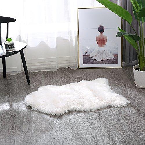 Townssilk - Alfombra de Piel sintética Lavable para sofá o Dormitorio (120 x 120 cm, 60 x 90 cm)