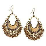 Zephyrr Drop Earring for Women (Golden)(JAE-934)