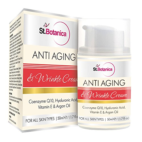 StBotanica Anti Aging & Anti Wrinkle Cream With Co-Q10, Hyaluronic acid, Vitamin E & Argan Oil - 50ml
