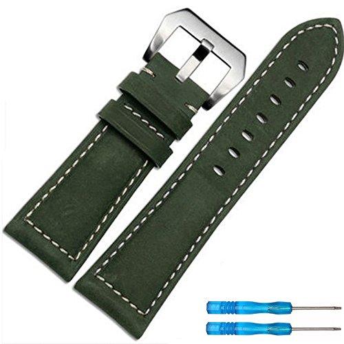 Yallylunn Replacement Luxury Leather Band Strap Weiches Und Zartes Leder Edle Textur Weich Atmungsaktiv Und Leicht for Garmin Fenix 5X GPS Watch
