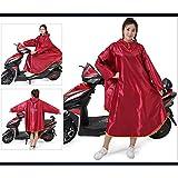XKS Doppelseitige Kapuze mit Ärmeln Erwachsene Männer und Frauen Single Thicken Bike Regenjacke Motorrad Poncho,#2