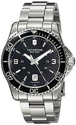 Victorinox Men's 241697 Maverick Analog Display Swiss Quartz Silver Watch