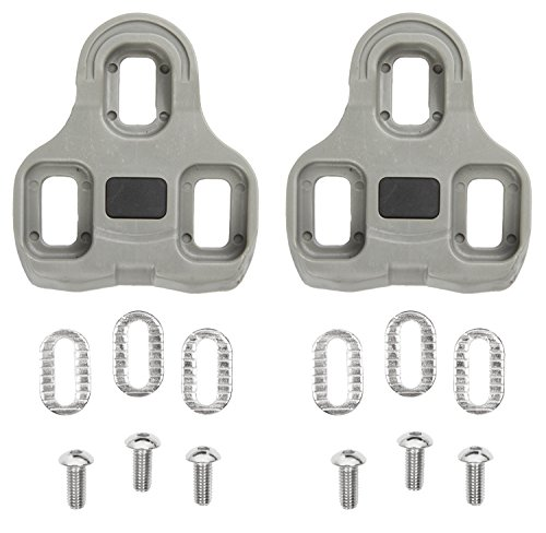 M-Wave Unisex, Set di tacchette per Pedale, Look KEO Compatible, tolleranza Laterale, Grigio, Taglia Unica