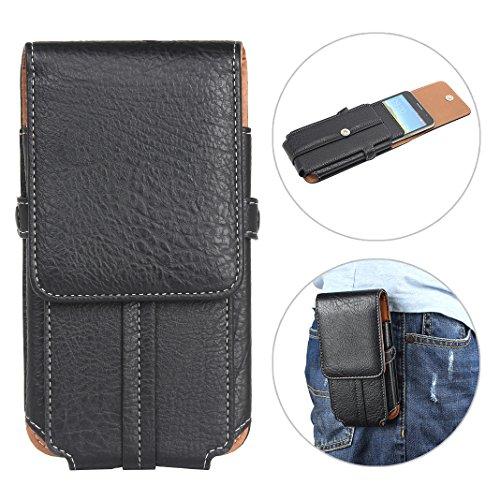 """Bolsas de Cuero con Clip de Cinturón, Moon mood 6.3"""" Negro Funda de Piel Funda para Cinturón Clip Cinturón Caso Hombre Cartera Carcasa Case Protectora Pouch Bag para Teléfono Móvil iPhone XS Max"""