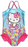 Maillot de bain 1 pièce enfant fille Hello kitty Bleu/rose de 3 à 8ans