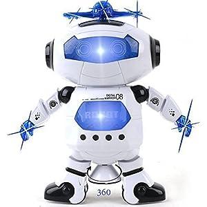 Riroad Electronic Walking Dancing Smart Space Robot Astronaut Kids Music Light Toys, Smart Robot kit