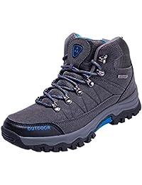 ALIKEEY Los Hombres Zapatos Casual Lace Up Zapatos Cómodos Corriendo El Montañismo Burdeos Rojas Tela Beige Crema