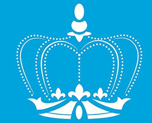 21cm x 17cm Flexibel Kunststoff Universal Schablone - Wand Airbrush Möbel Textil Decor Dekorative Muster Design Kunst Handwerk Zeichenschablone Wandschablone - Prinzessin Krone Königin König