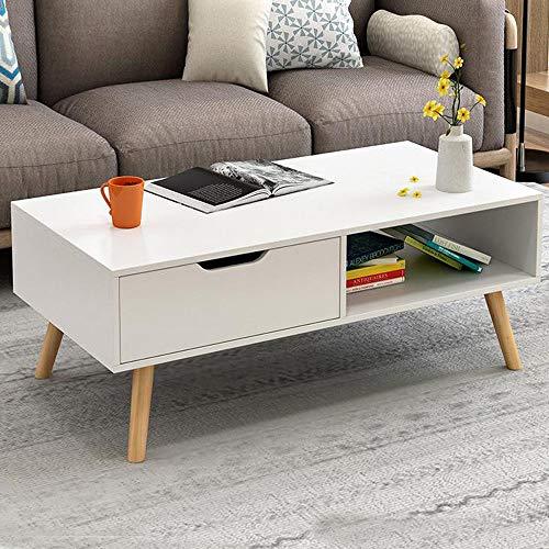 Generic tiroir étagère Table Basse Iving pièce S Meuble TV Support TV CA Salon Ngular rectangulaire Meuble Bas Rec de Rangement 1 tiroir étagère