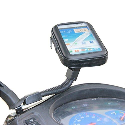 Universal-Biker-Scooter-Elektrische Auto Rückspiegel Halterung Ständer Bag 10,2cm Handy GPS Wasserdichte Schutzhülle für iPhone 4/5/5S (Scooter Mount)