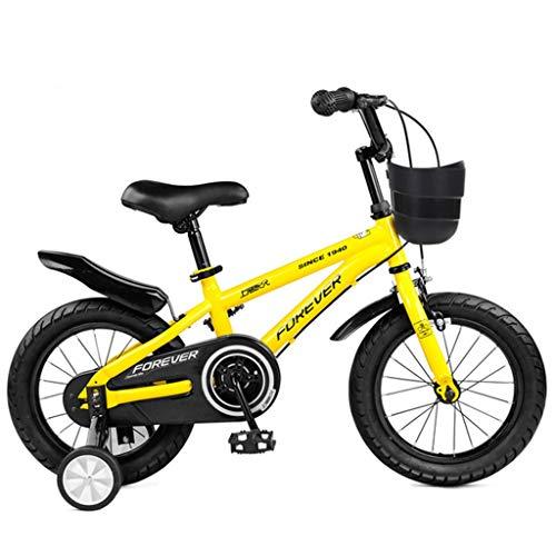 """Unbekannt Jungen Mädchen Kinder Fahrrad Kinderrad Kinderfahrrad, Schulung Bike for 2-11 Jahre Mädchen & Jungen, 12"""", 14"""", 16"""", 18"""" Kinder-Bike mit Stützrad & Handbremsen, 95% Assembled"""