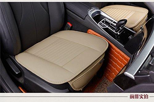 Edelyn Einzelsitz ohne Rückenlehne weichen PU-Kunstleder Autositzbezug universellen Schutz Stuhlkissen Matten für Auto, 1pcs(Beige) -