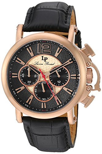 Lucien Piccard Men's Analogue Quartz Watch with Leather Strap LP-40018C-RG-01