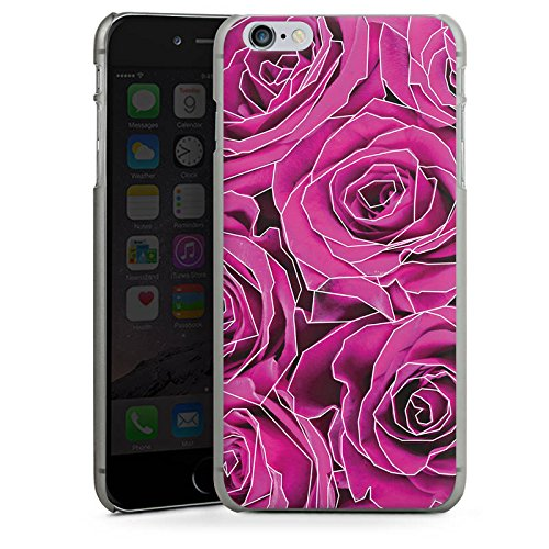 Apple iPhone X Silikon Hülle Case Schutzhülle Roses Pink Grafik Hard Case anthrazit-klar