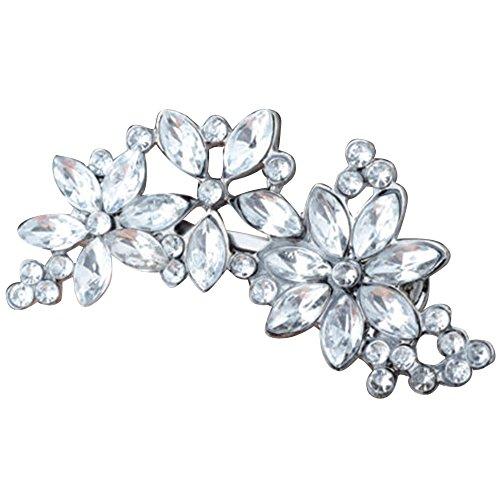 Sanwood Women's Rhinestone Flower Crystal Hair Clip Jewelry