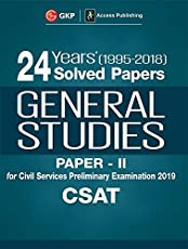 24 Years Solved Papers 1995-2017 General Studies Paper II CSAT for Civil Services Preliminary Examination 2018