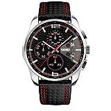 Relojes de Pulsera para Hombres Regalo de cumpleaños de cumpleaños para Hombres Reloj Deportivo de Cuarzo Resistente al Agua para Hombres Honestyi