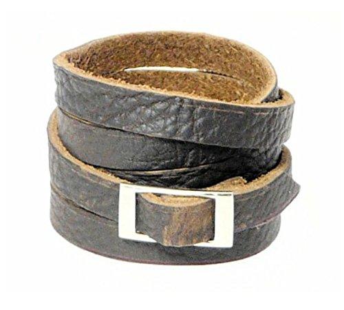 Dunkelbraune Lederarmband Wrap-Around-Lederarmband / Lederarmband / Surf Armband - Wrap Um Das Handgelenk Mehrmals