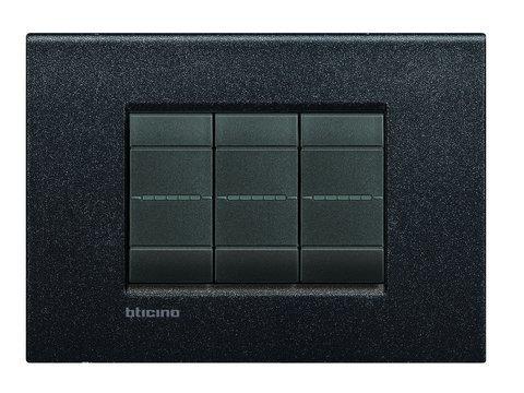 Bticino Livinglight Lnc4803Nl–ll-placa Air 3M Nero...
