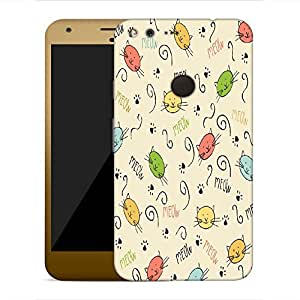 Snoogg Meow art cute Designer Protective Back Case Cover For Google Pixel XL