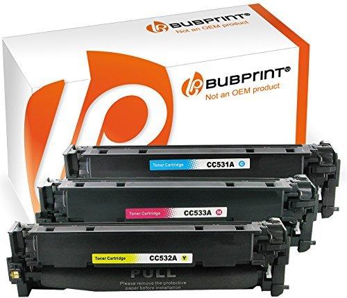 Bubprint 3 Toner kompatibel für HP CC531A CC532A CC533A HP 304A für Color Laserjet CM2320FXI CM2320NF CM2320N MFP CP2020 CP2025 CP2025N CP2025DN C M Y -