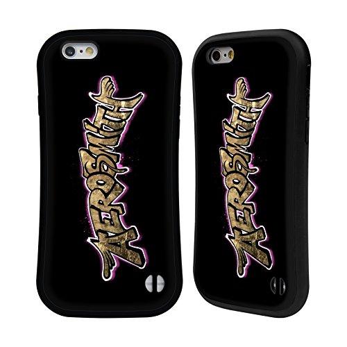 Ufficiale Aerosmith Gradiente Logo 2 Case Ibrida per Apple iPhone 7 Plus / 8 Plus Foglio Oro