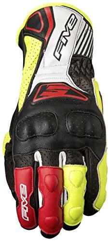 Cinque Advanced guanti RFX4replica adulto guanti, nero/giallo fluo, taglia 10
