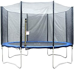 IRIS Fitness TUV Approved Trampoline with Enclosure net and Poles Safety Pad Ladder Jumping Mat Rain Cover (8 ft)