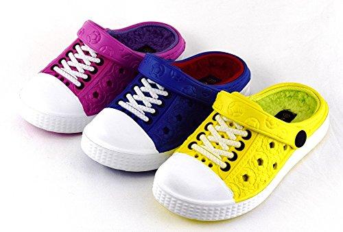 Inverno Crianças Eva Tamancos Chinelos Alinhados Quentes Em Sneaker-óptica Para Casa Ou Gr Jardim De Infância. 24-35 Amarelo, Rosa, Azul Amarelo