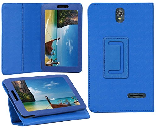 Jkobi Synthetic Leather Tablet Book Front & Back Protection Flip Case Cover For iBall Slide 7236 2G -Blue  available at amazon for Rs.195