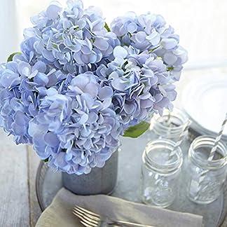 Frmarche Flores Artificiales Flores de Seda Hortensias Ramos para Boda Hogar Fiesta Decoración 2PCS