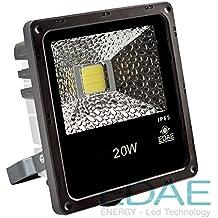 Foco LED Exteriores 20W, Proyector LED 20W, Blanco Frío 5500K - Fabricante Español,