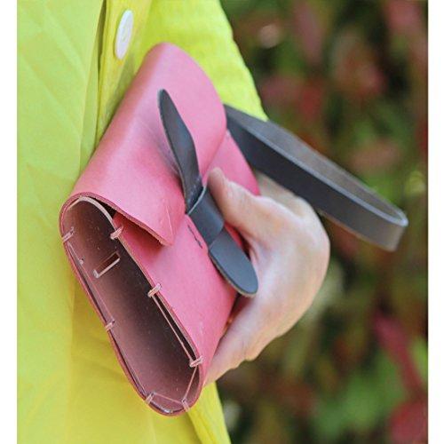 PelleRocK, Borsetta pelle e plexyglass, Colore: Giallo Grigio