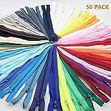 Unbekannt Home Decor 50 Stücke Nylon Zips Closed End Reißverschlüsse zum Nähen Kleidung Taschen Schneider Accessor (Zufällige Farbe)
