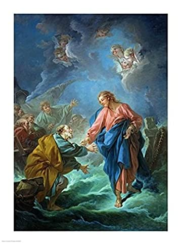 Francois Boucher – St. Peter Invited to Walk on the Water Fine Art Print (60.96 x 91.44 cm)