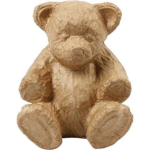 Creativ Papier Pappmaché Teddy, braun, 18x