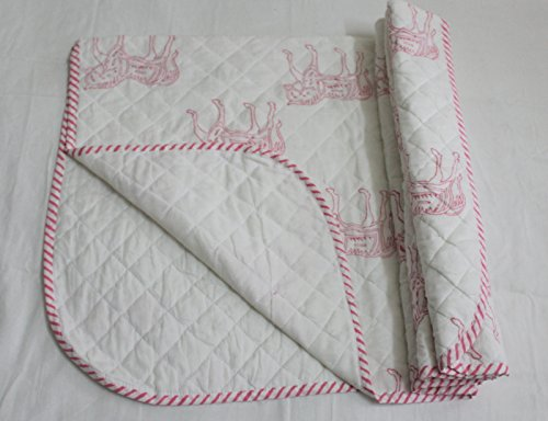 handicraftofpinkcity 100% puro cotone morbido e Kantha lavoro a mano blocco stampa Baby Trapunta Kid lenzuola