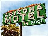 Posterlounge Cuadro de Aluminio 80 x 60 cm: Arizona Motel on 6th Avenue, 2004 de Lucy Masterman/Bridgeman Images