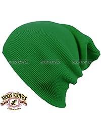 6229c95405ae2 Cuff Beanie Knit Hat Winter Warm Cap Slouchy Skull Ski Hats Men Women Warm  Plain KELLY