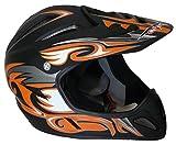 Protectwear Downhill casco Freeride casco BMX casco, VB210, opaco arancio nero, FR-o, taglia XL