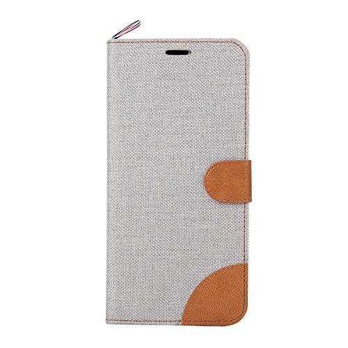 Samsung Galaxy A8 Hülle,Samsung Galaxy A8 Case,Cozy Hut Cowboy Stil PU Leder Handyhülle Holster Flip Cover Vorne Buckle Handytasche Tasche Halfter Folio Schutzhülle Protective Schale mit Standfunktion weiß