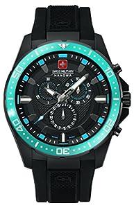Swiss Military Hanowa 06-4212.27.007.03 - Reloj analógico de cuarzo para hombre, correa de plástico color negro (cronómetro) de Swiss Military Hanowa