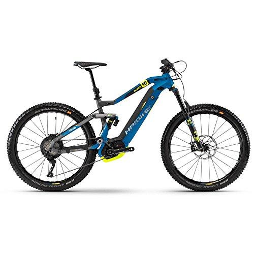 Haibike XDURO AllMtn 9.0 E-Bike 500Wh E-Mountainbike titan/blau/schwarz matt / RH 41 cm / 27,5 Zoll