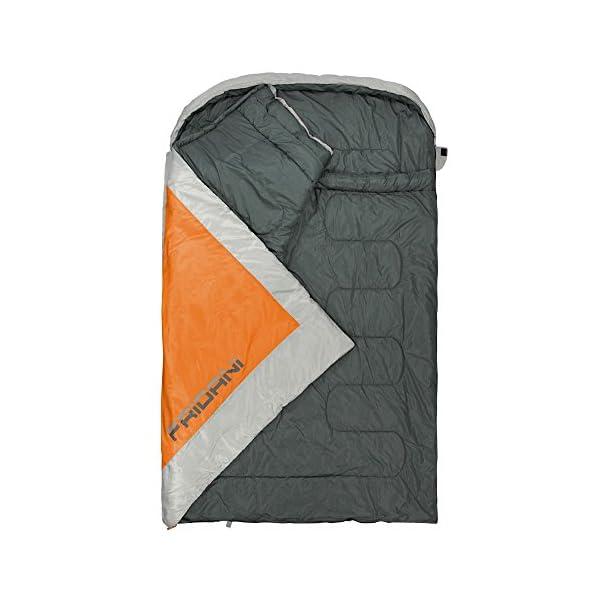 innovatives Design Beste Sonderteil Fridani 2 Mann Schlafsack BB 235x150 XXL Deckenschlafsack Orange -22°C warm  wasserabweisend waschbar