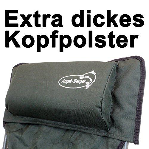 Luxus Faltstuhl Klappstuhl mit Getränkehaltern Polster und Armlehnen - 5