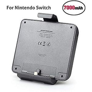Chinsion 7000 mAh Ladegerät Akku Hülle für Nintendo Switch, tragbarer Akku Pack Erweiterte Power Bank für Switch Spiele…