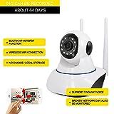 Caméra de surveillance sans fil, caméra IP Surveillance de sécurité 960P Alarme HD Commande vocale Affichage à distance Voix Interphone