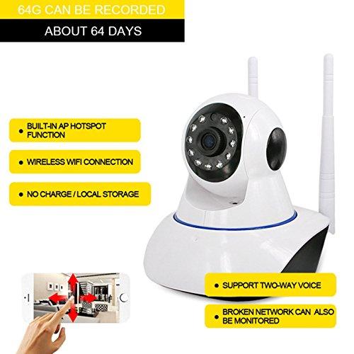 Telecamera di sicurezza domestica, telecamera di sorveglianza domestica del citofono vocale, avvio voce di allarme home wireless telefono cellulare senza fili del webcam