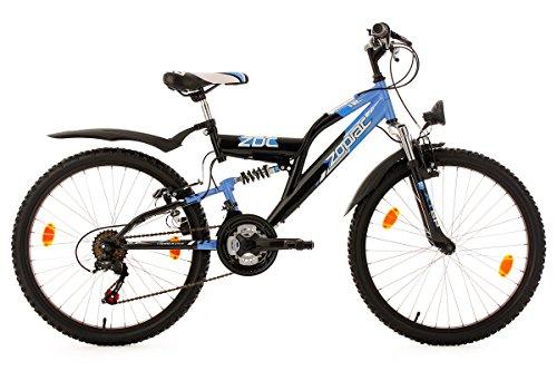 KS Cycling Jungen Fahrrad Kinderfahrrad Fully Zodiac, Schwarz, 24, 631K