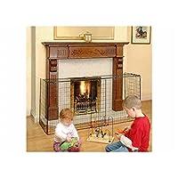 Fireside Extending Nursery Child Safety Fireguard - Black